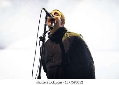 London, UK - November 28th 2019: Liam Gallagher peforms live the O2 Arena on November 28th, 2019 in London, England.