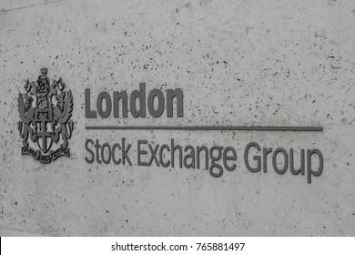 London, UK - November 29, 2017: London Stock Exchange Logo