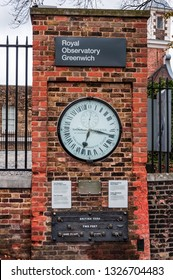 LONDON, UK NOVEMBER 3, 2011: Shepherd gate clock at Royal Greenwich Observatory. The network of master and slave clocks was constructed and installed by Charles Shepherd in 1852. LONDON, UK
