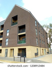 LONDON/ UK- OCT 15th 2018: Social housing, like these new flats in Dagenham, London, are in demand, because of a housing crisis in the capital city.
