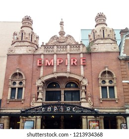 LONDON/ UK- OCT 23 2018: The famous Hackney Empire theatre, in mare street, London, was opened in 1901 as a music hall. Over the years famous people like charlie Chaplin have performed here.