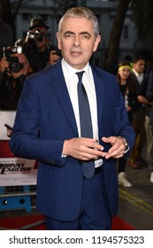 """LONDON, UK. October 03, 2018: Rowan Atkinson at the premiere of """"Johnny English Strikes Again"""" at the Curzon Mayfair, London.Picture: Steve Vas/Featureflash"""