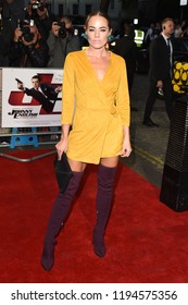 """LONDON, UK. October 03, 2018: Emma Conybeare at the premiere of """"Johnny English Strikes Again"""" at the Curzon Mayfair, London.Picture: Steve Vas/Featureflash"""
