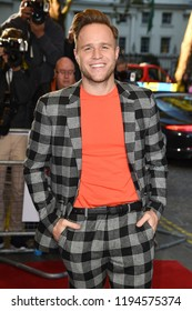 "LONDON, UK. October 03, 2018: Olly Murs at the premiere of ""Johnny English Strikes Again"" at the Curzon Mayfair, London.