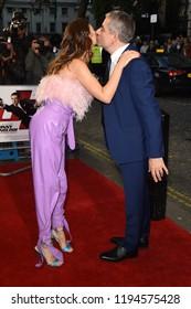 """LONDON, UK. October 03, 2018: Olga Kurylenko & Rowan Atkinson at the premiere of """"Johnny English Strikes Again"""" at the Curzon Mayfair, London.Picture: Steve Vas/Featureflash"""