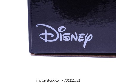 LONDON, UK - OCTOBER 10TH 2017: A close-up of the Disney logo on a product item, on 10th October 2017.