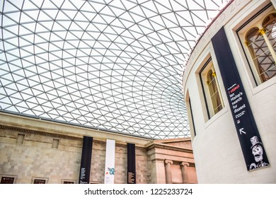 LONDON, UK - OCTOBER 14: The British Museum, a public institution dedicated to human history, art and culture located in Bloomsbury, London, in the United Kingdom