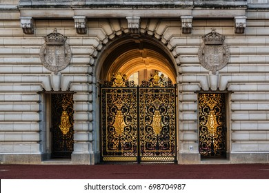 LONDON, UK - OCTOBER 15, 2016: Buckingham Palace in London. Built in 1705, the Palace is the official London residence and principal workplace of the British monarch.