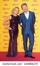 "LONDON, UK. October 16, 2018: Jayne Torvill & Christopher Dean arriving for the ""ITV Palooza!"" at the Royal Festival Hall, London."