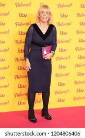 "LONDON, UK. October 16, 2018: Linda Robson arriving for the ""ITV Palooza!"" at the Royal Festival Hall, London."