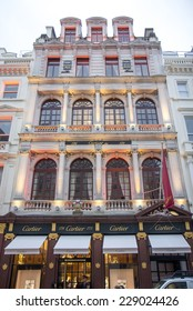 LONDON, UK - OCTOBER 17, 2014: Cartier has three flagship boutiques: Paris, London, and New York.