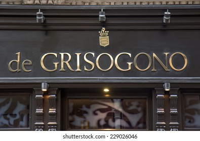 LONDON, UK - OCTOBER 17, 2014: De Grisogono sells an array of jewellery and giftware items as well as offering a repair and alteration service in Bond street, London.