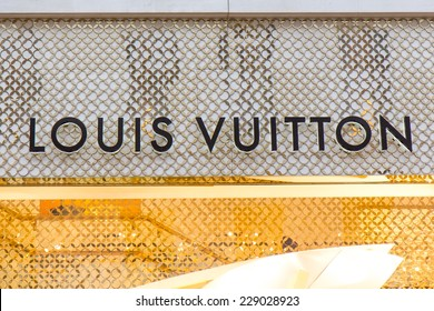 LONDON, UK -  OCTOBER, 17, 2014: Founded in 1854, Louis Vuitton today has 19,000 employees in more than 65 countries around the world. New Bond street, London.