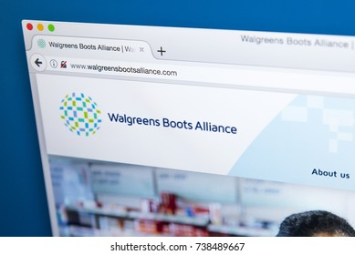 LONDON, UK - OCTOBER 17TH 2017: The homepage of the official website for Walgreens Boots Alliance - an American holding company which owns Walgreens and Boots, on 17th October 2017.