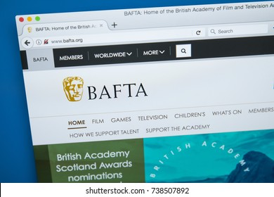 LONDON, UK - OCTOBER 17TH 2017: The homepage of the official website for BAFTA - the British Academy of Film and Television Arts, on 17th October 2017.