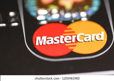 London, UK - October 18, 2018 : View of a mix of credit and debit cards on a flat surface.