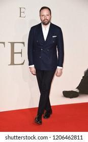 "LONDON, UK. October 18, 2018: Yorgos Lanthimos at the London Film Festival screening of ""The Favourite"" at the BFI South Bank, London."