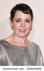 """LONDON, UK. October 18, 2018: Olivia Colman at the London Film Festival screening of """"The Favourite"""" at the BFI South Bank, London."""
