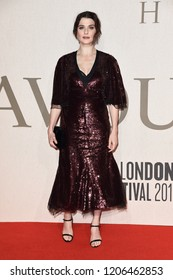 """LONDON, UK. October 18, 2018: Rachel Weisz at the London Film Festival screening of """"The Favourite"""" at the BFI South Bank, London."""