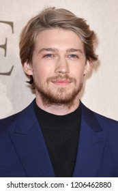 """LONDON, UK. October 18, 2018: Joe Alwyn at the London Film Festival screening of """"The Favourite"""" at the BFI South Bank, London."""