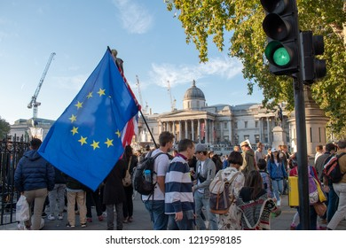 London, UK - October 20, 2018 - The People's Vote march
