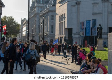 London, UK - October 20, 2018 - at the People's Vote march