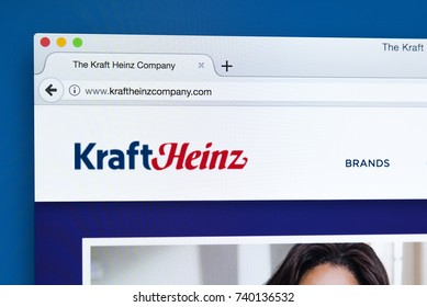LONDON, UK - OCTOBER 21ST 2017: The homepage of the official website for The Kraft Heinz Company - the American food company, on 21st October 2017.