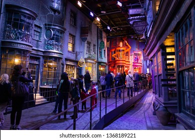London, UK; October 23, 2013; Warner Bros Studios London tour, with the sets and original material of the Harry Potter movies.