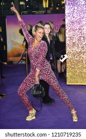 """LONDON, UK. October 23, 2018: Gemma Cairnney at the world premiere of """"Bohemian Rhapsody"""" at Wembley Arena, London."""