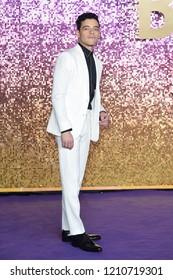 "LONDON, UK. October 23, 2018: Rami Malek at the world premiere of ""Bohemian Rhapsody"" at Wembley Arena, London."