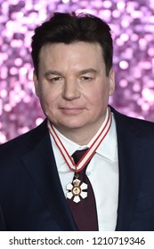 """LONDON, UK. October 23, 2018: Mike Myers at the world premiere of """"Bohemian Rhapsody"""" at Wembley Arena, London."""