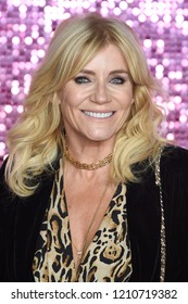"""LONDON, UK. October 23, 2018: Michelle Collins at the world premiere of """"Bohemian Rhapsody"""" at Wembley Arena, London."""