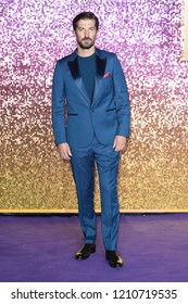 "LONDON, UK. October 23, 2018: Gwilym Lee at the world premiere of ""Bohemian Rhapsody"" at Wembley Arena, London."