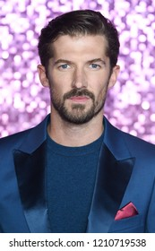 """LONDON, UK. October 23, 2018: Gwilym Lee at the world premiere of """"Bohemian Rhapsody"""" at Wembley Arena, London."""