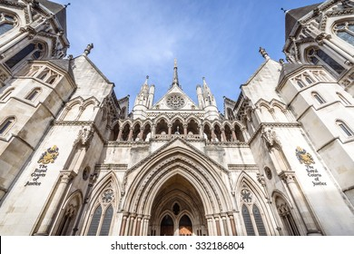 LONDON, UK - OCTOBER 25, 2015: Known as The Law Courts, The Royal Courts of Justice houses the High Court and Court of Appeal of England and Wales. Many high profile cases have been carried out here.