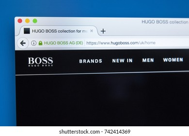 LONDON, UK - OCTOBER 25TH 2017: The homepage of the official website for Hugo Boss - the German luxury fashion house, on 25th October 2017.