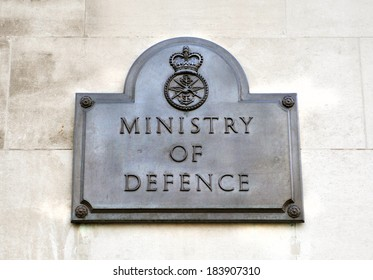 LONDON, UK - OCTOBER 29, 2011: Ministry of Defence is a UK department that works to protect the security, independence and interests of the UK at home and abroad.