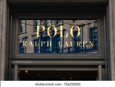 LONDON, UK - October 29, 2017: Polo Ralph Lauren Logo