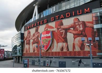 LONDON, UK - October 29, 2017: Emirates Stadium Arsenal London