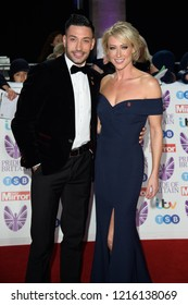 LONDON, UK. October 29, 2018: Giovanni Pernice & Faye Touzer at the Pride of Britain Awards 2018 at the Grosvenor House Hotel, London.