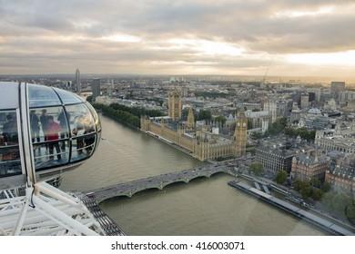London, UK, October 8 2013: London City Skyline