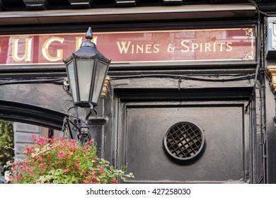 London, UK, October 8 2013: Bar Plough Exterior Sign