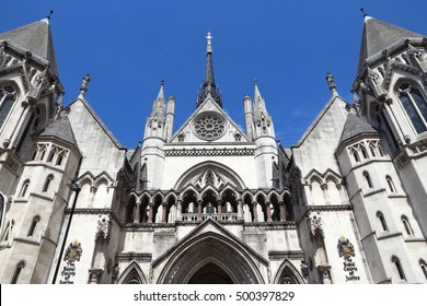 London, UK - Royal Courts of Justice on the Strand.