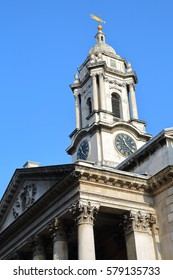 LONDON, UK: Saint George's Church in Hanover Square (borough of Westminster)