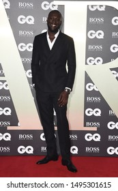 LONDON, UK. September 03, 2019: Stormzy arriving for the GQ Men of the Year Awards 2019 in association with Hugo Boss at the Tate Modern, London.Picture: Steve Vas/Featureflash