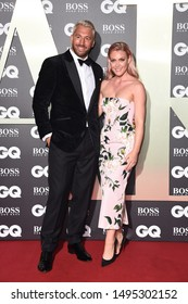 LONDON, UK. September 03, 2019: Chris Robshaw & Camilla Kerslake arriving for the GQ Men of the Year Awards 2019 in association with Hugo Boss at Tate Modern, London. Picture: Steve Vas/Featureflash