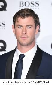 LONDON, UK. September 05, 2018: Chris Hemsworth at the GQ Men of the Year Awards 2018 at the Tate Modern, London