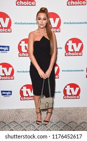 LONDON, UK. September 10, 2018: Georgia Steel at the TV Choice Awards 2018 at the Dorchester Hotel, London.