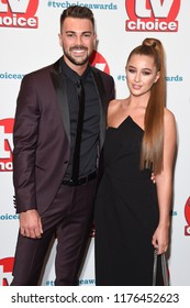 LONDON, UK. September 10, 2018: Sam Bird & Georgia Steel at the TV Choice Awards 2018 at the Dorchester Hotel, London.