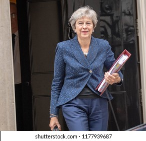 LONDON UK SEPTEMBER 12TH 2018 ,Theresa May MP PC, Prime Minister, , leaves 10 Downing Street, London